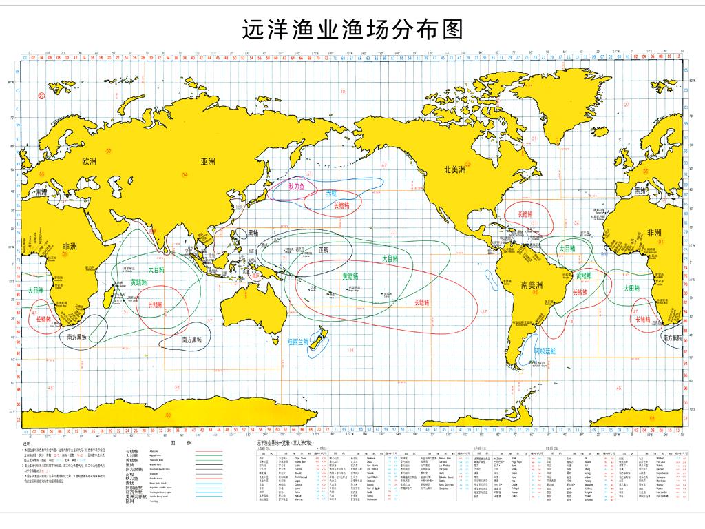 分布在这八国水域